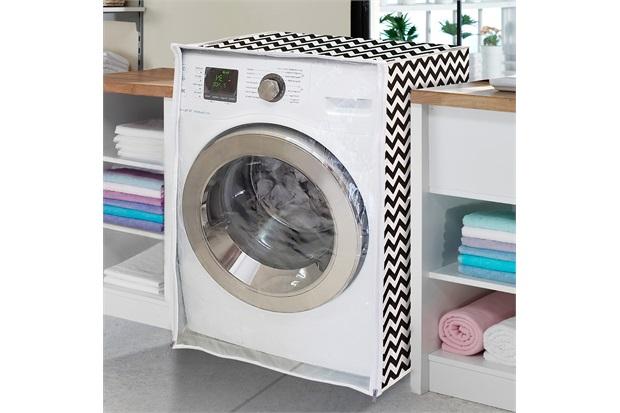 Capa para Máquina de Lavar com Ziper E Abertura Frontal 58x60cm Zig Zag - Vida Pratika