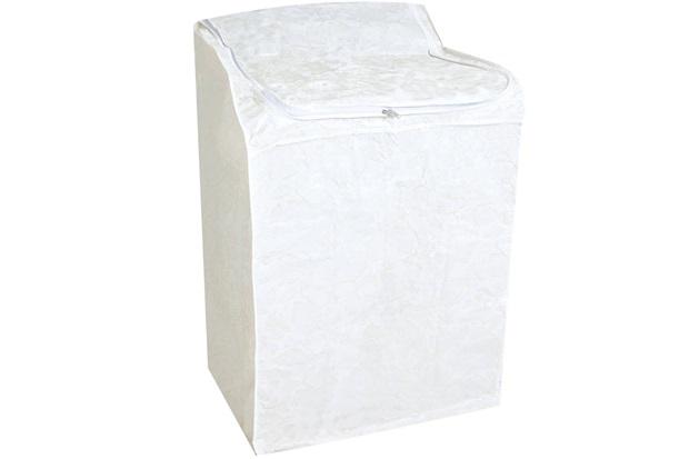 Capa para Máquina de Lavar Flanelada Grande Branca - Secalux
