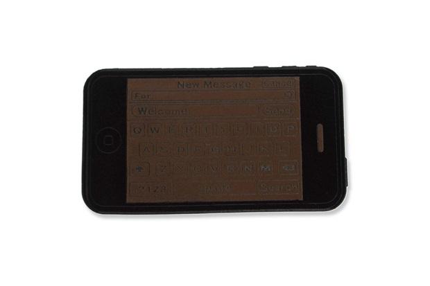 Capacho em Borracha Dalian Phone 75x45cm Cinza E Preto - Casa Etna