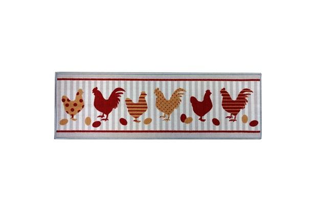 Capacho para Cozinha Clean Kasa Chicken 40x120cm - Kapazi