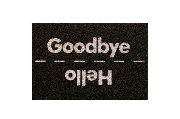 Capacho Super Print Hello Goodbye 40x60cm - Kapazi