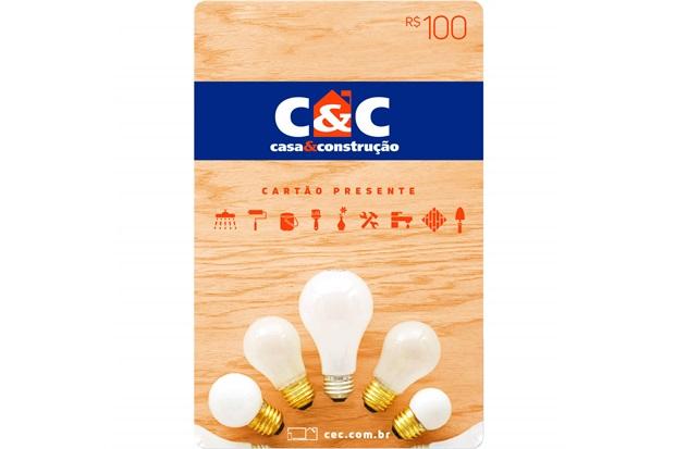 Cartão Presente R$ 100 - C&C