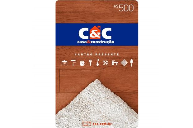 Cartão Presente R$ 500 - C&C