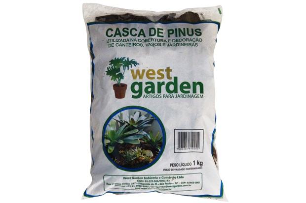Casca de Pinus 1kg - West Garden