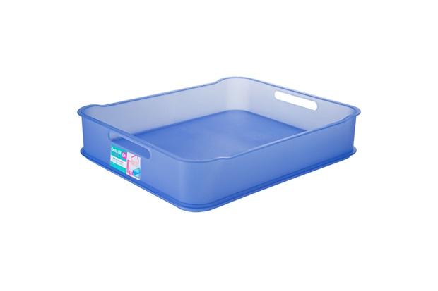 Cesta Organizadora em Polipropileno Fit Maxi Azul - Coza