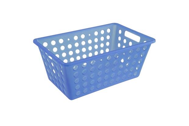 Cesta Organizadora One Grande 28,8x19,1cm Azul - Coza