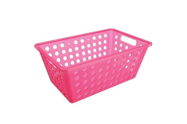 Cesta Organizadora One Grande 28,8x19,1cm Rosa - Coza