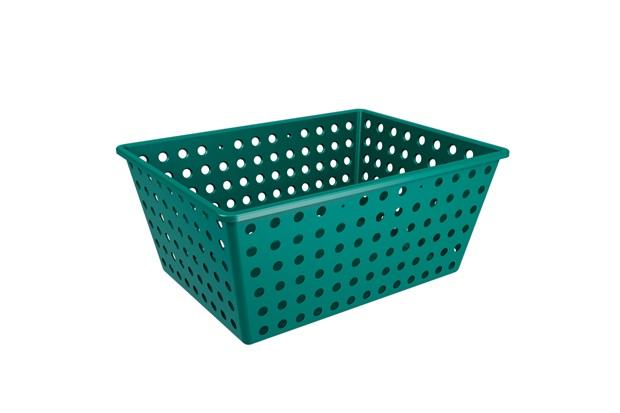 Cesta Organizadora One Maxi 39x30cm Verde Esmeralda - Coza