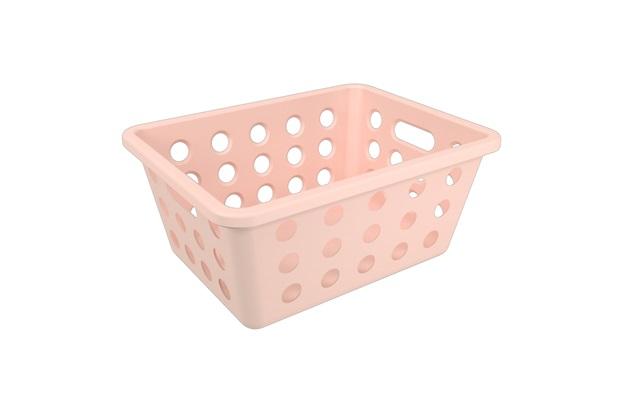 Cesta Organizadora One Pequena 18,6x14,2cm Rosa Blush - Coza