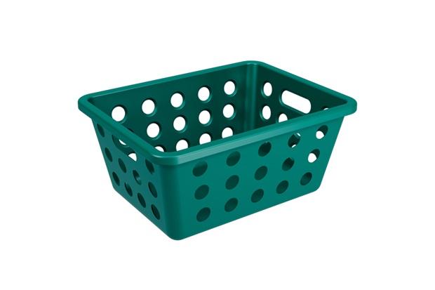 Cesta Organizadora One Pequena 18,6x14,2cm Verde Esmeralda - Coza