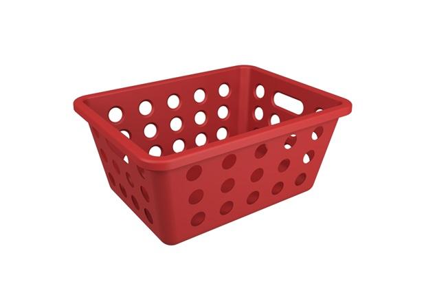 Cesta Organizadora One Pequena 18,6x14,2cm Vermelho Bold - Coza
