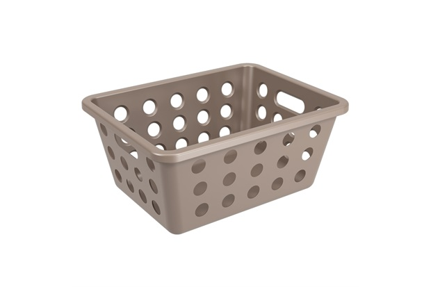 Cesta Organizadora One Pequena 18,6x14,2cm Warm Gray - Coza