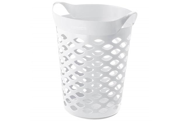 Cesto Organizador Redondo em Plástico 44 Litros Branco - Sanremo