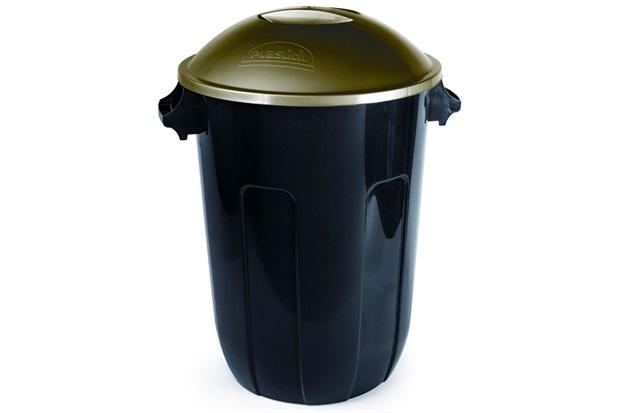 Cesto para Lixo Ecoblack Preta 62 Litros - Plasútil