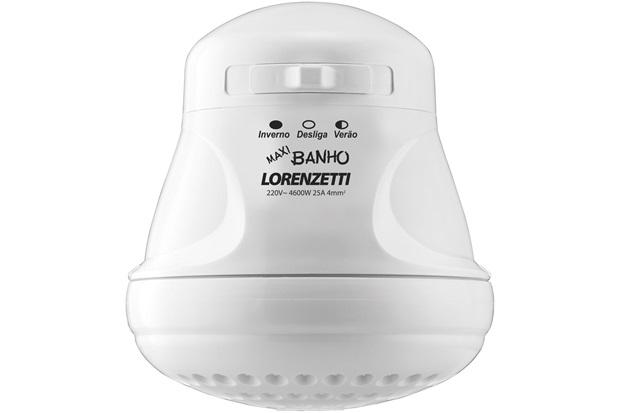 Chuveiro Elétrico Maxi Banho 5500w 220v Branco - Lorenzetti