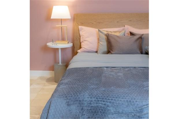 Cobertor de Casal Cozy Grid Azul 180x220cm - Casa Etna