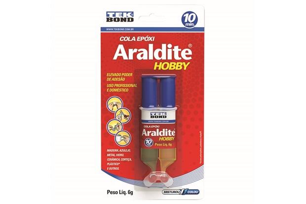 Cola Epóxi Araldite Hobby Seringa 6g - Tekbond