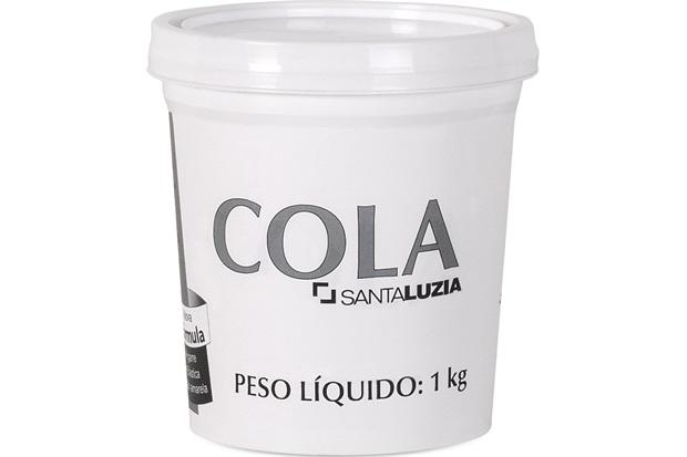 Cola para Fixação de Rodapé 1kg - Santa Luzia