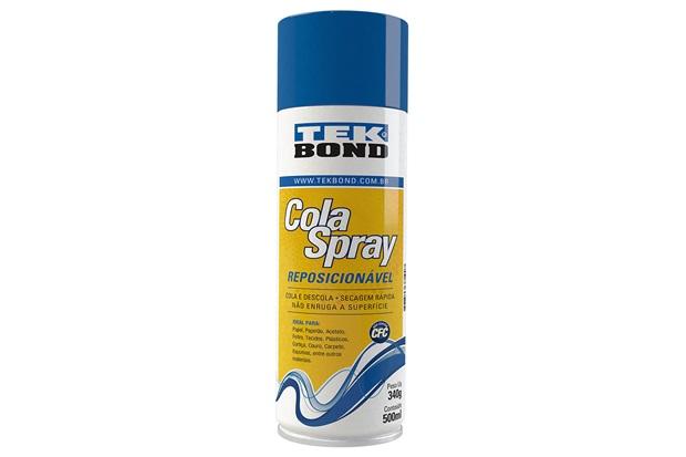 Cola Spray Reposicionável 500ml Amarelada - Tekbond
