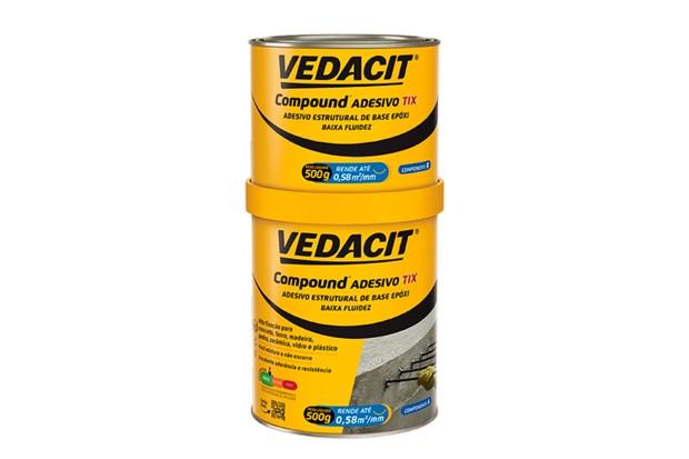 Compound Adesivo Tix Lata de 1kg - Vedacit