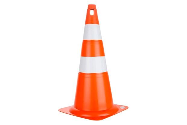 Cone Pro Safety 70cm Branco E Laranja - Delta Plus