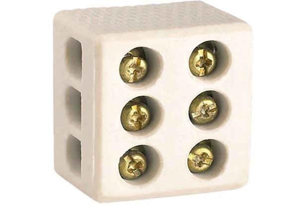 Conector de Porcelana 25a Tripolar 10mm - Kit-Flex