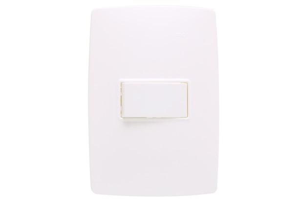 Conjunto 1 Interruptor Simples S30 10a 250v com Placa 4x2 Branco - Simon