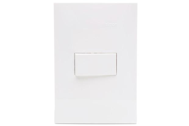 Conjunto 1 Interruptor Simples S35 10a 250v com Placa 4x2 Branco - Simon
