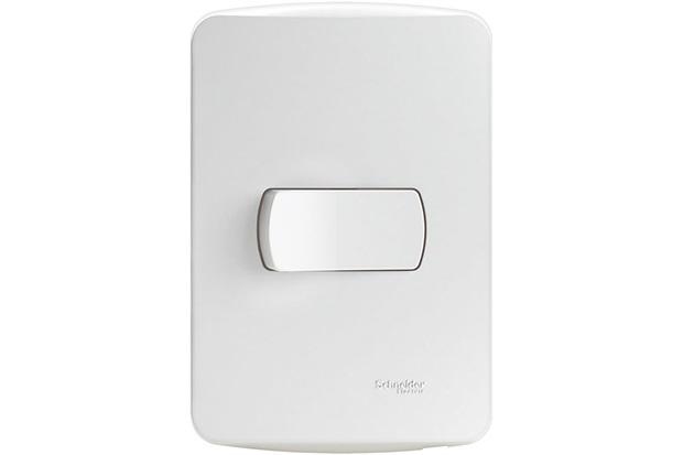 Conjunto de 1 Interruptor Simples 10a 220v com Placa 4x2 Miluz Branca - Schneider