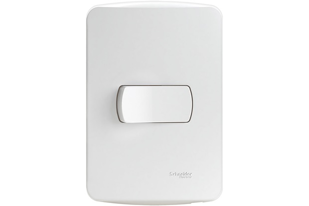 Conjunto de 1 Interruptor Simples 10a 250v com Placa 4x2 Miluz Branca - Schneider