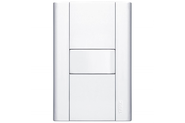 Conjunto de 1 Interruptor Simples com Placa Modulare Branco 10a 250v - Fame