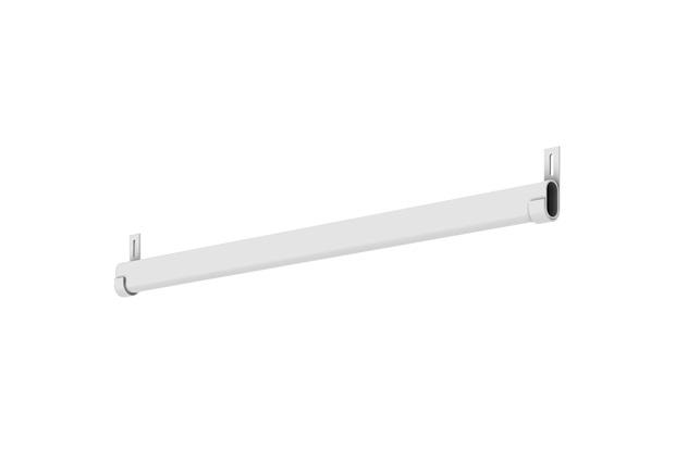 Conjunto de Cabideiro para Closet Branco 110cm  - Fico Ferragens