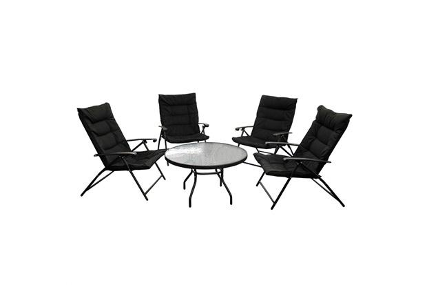 Conjunto de Cadeiras E Mesa com 5 Peças Preto - Casanova