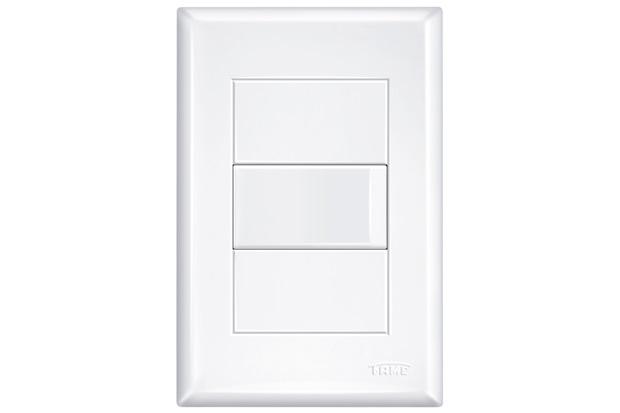 Conjunto de Interruptor Simples Branco - Fame