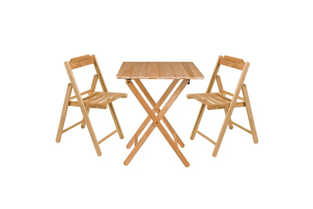 Conjunto de Mesa E Cadeiras Dobráveis Beer Natural - Casa Etna