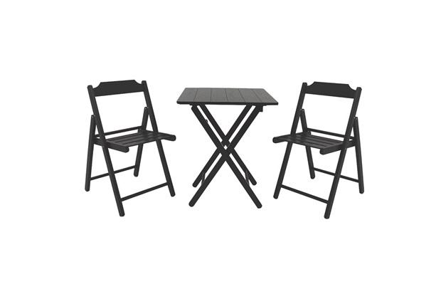 Conjunto de Mesa E Cadeiras Dobráveis Beer Tabaco - Casa Etna