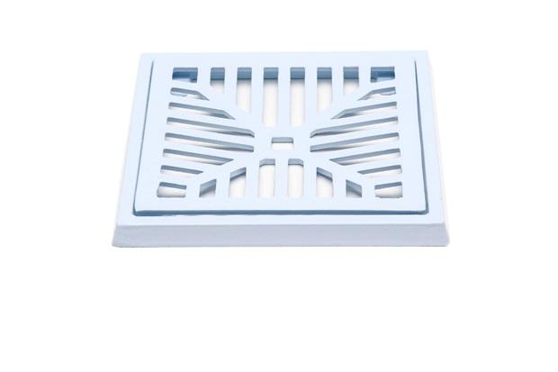 Conjunto Grelha E Porta Grelha em Alumínio Elegance 15x15cm Branco - Costa Navarro