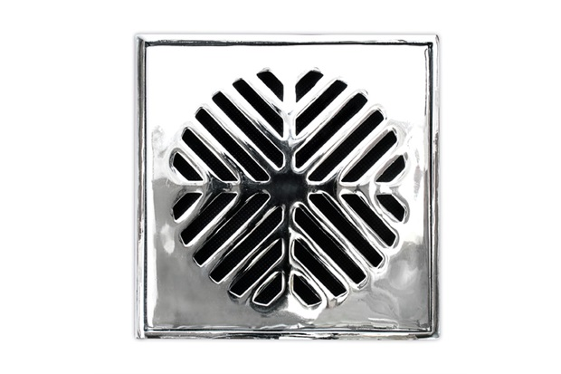 Conjunto Grelha Quadrada 10cm Alumínio Polido - Costa Navarro