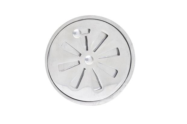 Conjunto Grelha Regulável Redonda 10cm Alumínio Polido - Costa Navarro