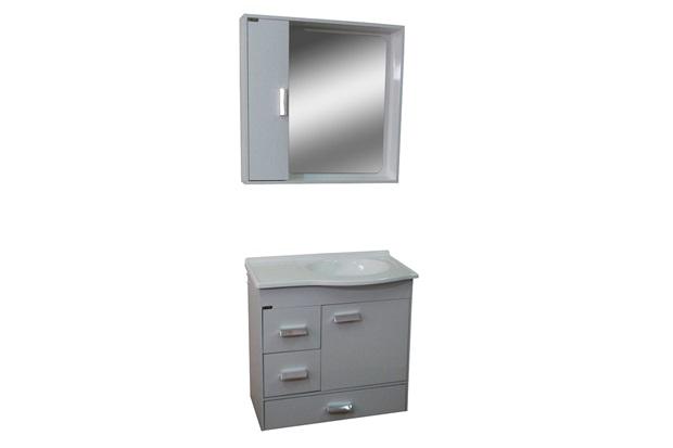 Conjunto para Banheiro Porto 56x60cm Branco - Irmãos Corso