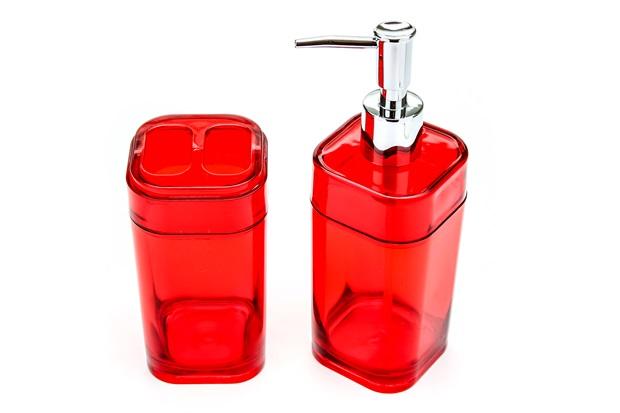 Conjunto para Banheiro Splash Vermelho - Coza