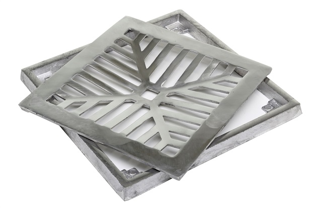 Conjunto para Grelha Quadrada Côncava 20x20cm Alumínio - Costa Navarro