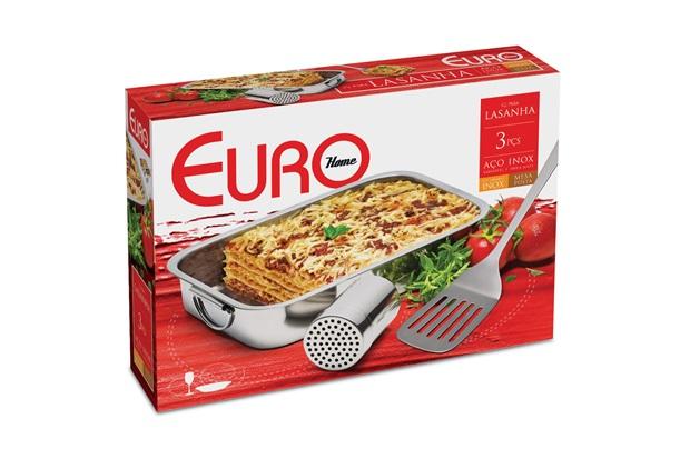 Conjunto para Lasanha de Inox com 3 Peças - Euro