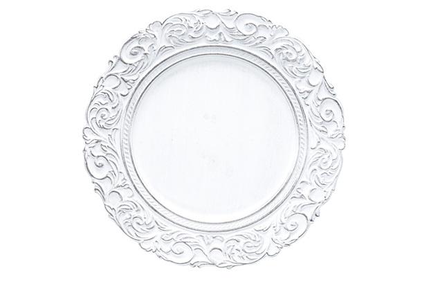 Conjunto Sousplat em Plástico Apolo Preto E Branco 35cm com 6 Peças - Bon Gourmet