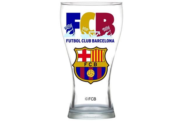 Copo Shape em Vidro Futebol Club Barcelona 470ml Transparente - Crisal
