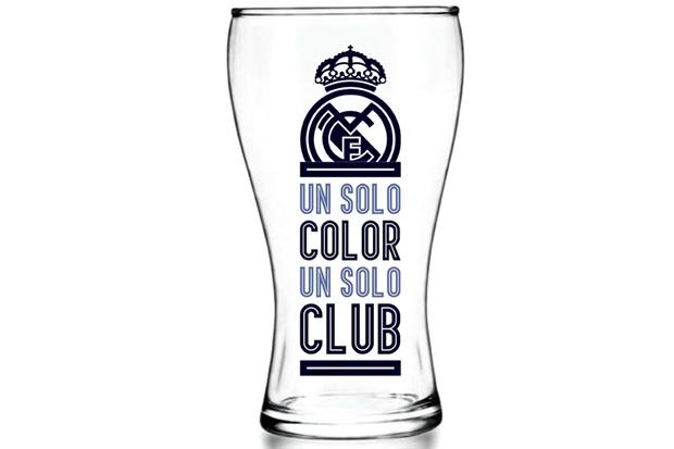 Copo Shape em Vidro Futebol Real Madrid 470ml Transparente - Libbey