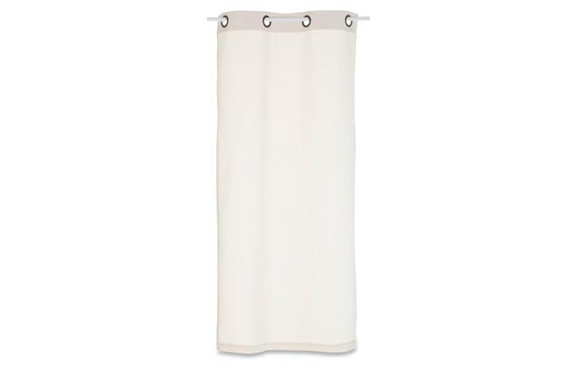 Cortina em Algodão Panamá Branca 170x80cm - Casa Etna