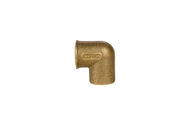 Cotovelo Redondo 90° em Latão com Bolsa Solda 22 E Rosca Fêmea ½'' - Ramo Conexões