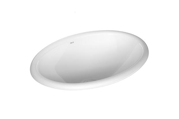 Cuba de Sobrepor Oval 44x31cm Branco - Deca