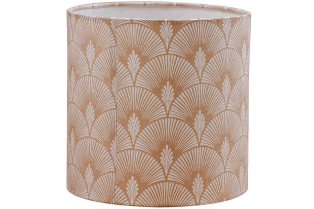 Cúpula Cilíndrica Textura 20x20cm Bege - Casa Etna